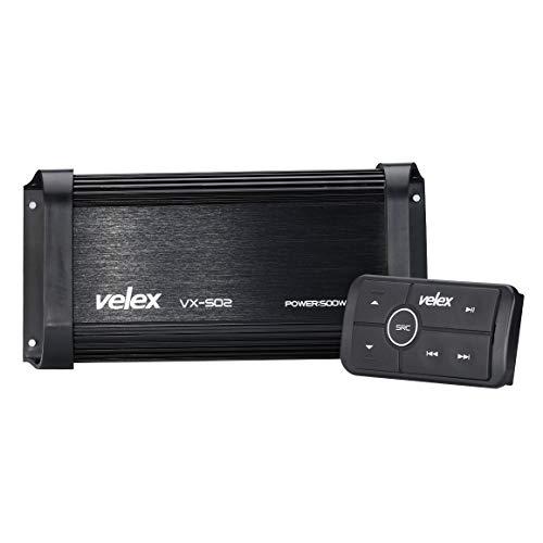 Resistente al Agua Bluetooth Marine 4 Canales Clase A/B Amplificador Medios estéreo en Barcos UTV ATV Carros de Golf y automóviles