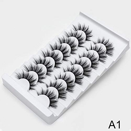 KADIS 2/8/20 Paires épais Faux Cils Cross Lashes Curling Messy Soft 3D Faux Cils Outils de Maquillage Extension de Cils Longs Naturels, A1