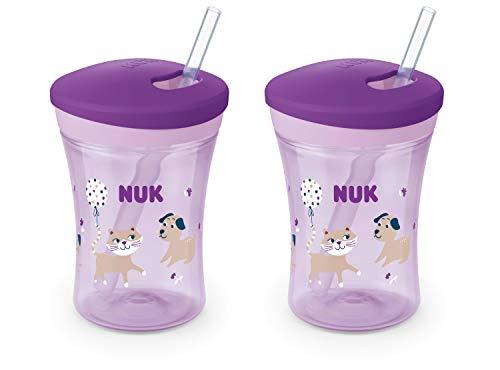 NUK Evolution Straw Cup, 8 oz, 2-Pack
