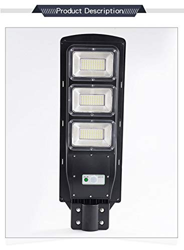 Exquisite Selebrity Solar Powered Street Light 150W 8000 Lumens 6000-6500K IP65 Waterproof Dusk to Dawn Solar Led Light with Remote Control 120 Degree Beaming Angle for Yards Street Oarking Lots