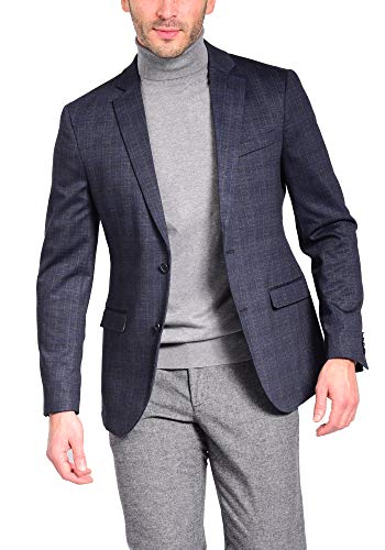 Craft & Soul Men's Slim Fit Stretch Pattern Knit Blazer Jacket Sport Coat