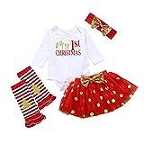 aiyvi Baby Bekleidungssets,0-2 Jahre Kleinkind Baby Kinder Mädchen Weihnachten Strampler Tops Tutu Kleid Haarband Set