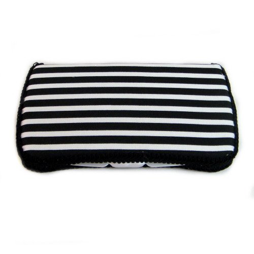 Black and White Stripes Baby Wipes case