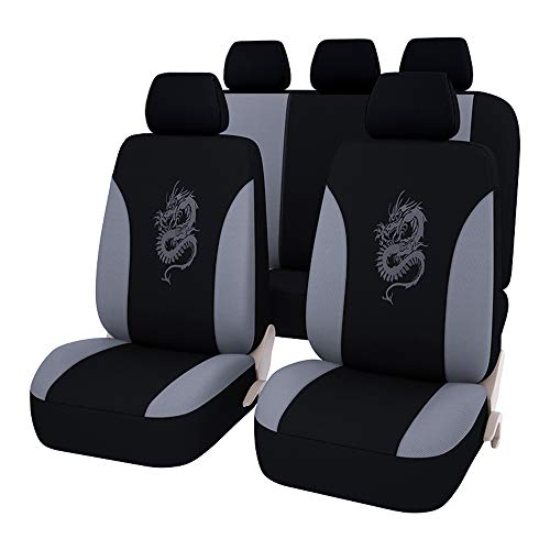 AUTOYOUTH Car Accessories Car Seat Covers for Cars Embroidery Dragon...