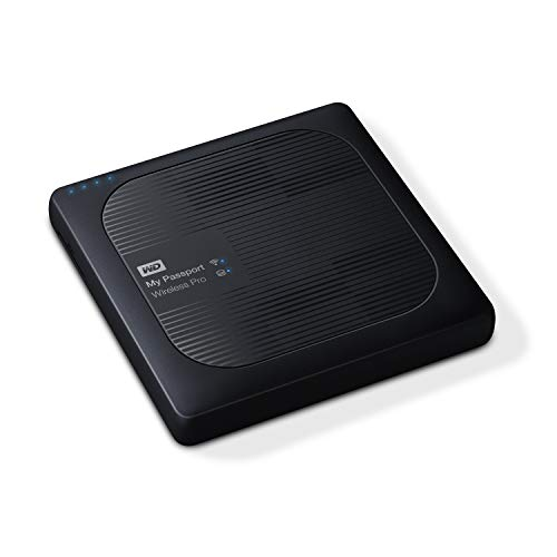 WD 4TB My Passport Wireless Pro Portable External Hard Drive, Wifi USB 3.0 - WDBSMT0040BBK-NESN