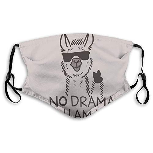 Gesichtsmaske Nase Mundabdeckung Kein Drama Lama Anti Dust Wiederverwendbare Gesichtsabdeckungen