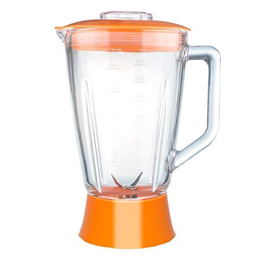 Ersatzglasbehälter Standmixer BG03 TurboTronic 1,5L Glasbehälter inkl. Deckel und Messereinsatz Mixeraufsatz Krug orange