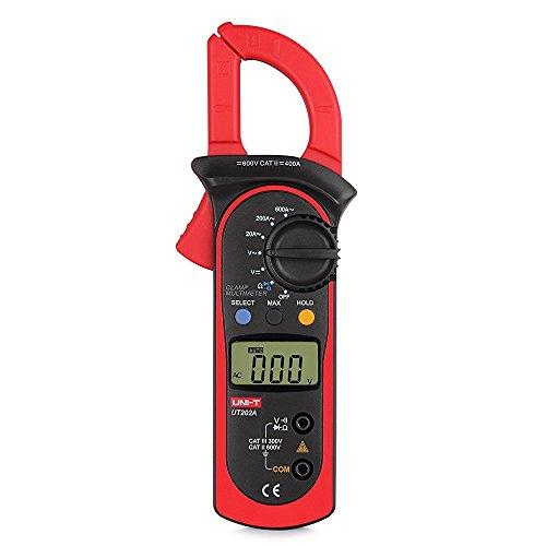 Pinza Multímetro Digital Pinza Amperimétrica Profesional Medidor de Voltaje AC/CC Corriente Prueba de Diodos para Fábrica Escuela Laboratorio Reparación