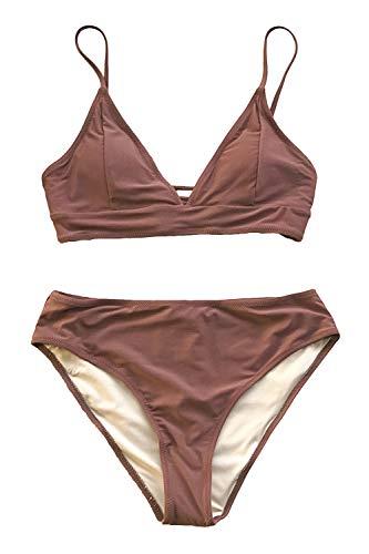 CUPSHE Dames Bikiniset Triangel Bikinitop Verstelbare Bandjes Beachwear Swimwear Bikini