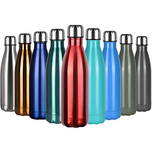 flintronic Botella Termica, 500ML Botella de Agua de Acero Inoxidable, Aislamiento de Vacío de Doble Pared, Botellas de...