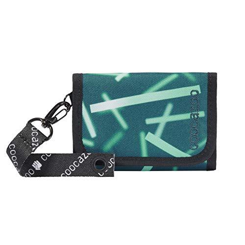 """coocazoo Geldbeutel AnyPenny """"Cyber Green"""", grün, Portemonnaie mit Sichtfenster innen & außen, Münzfach, viele Kartenfächer, Klettverschluss, für Jungen"""