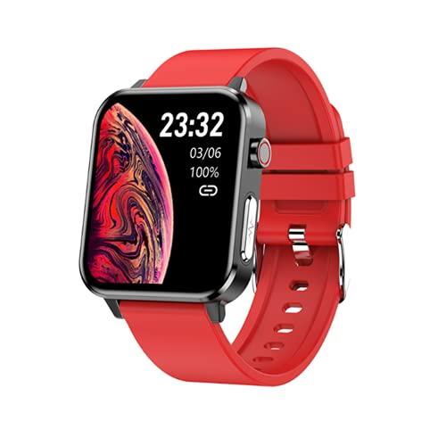 FZXL E86 ECG Smart Watch Medición de la Temperatura Corporal SmartWatch con diagnóstico de AI Monitoreo de Salud Podómetro Universal Sport Watch,D