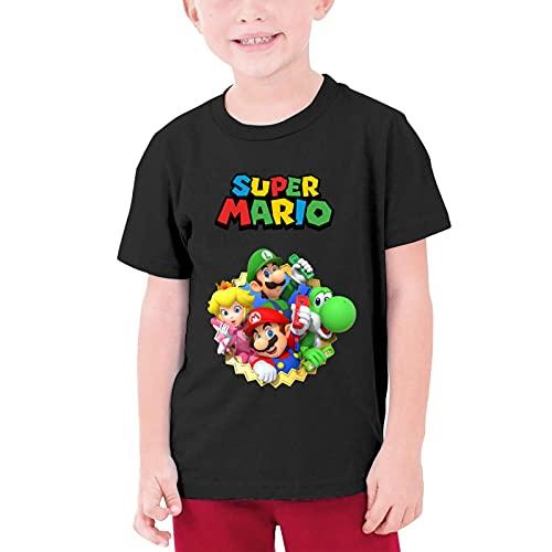 WFQTT Super Mario T-shirt pour enfant en coton fille T-shirt à manches courtes Super Smash Bros 3D Streetwear M a01