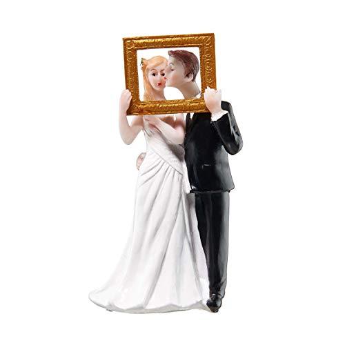 Butlers Wedding Deko Brautpaar mit Bilderrahmen B 7 x T 5cm