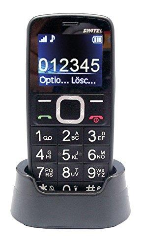 Switel M170 Quadband Mobiltelefon mit SOS-Notruftaste, Nummernansage per Sprachausgabe