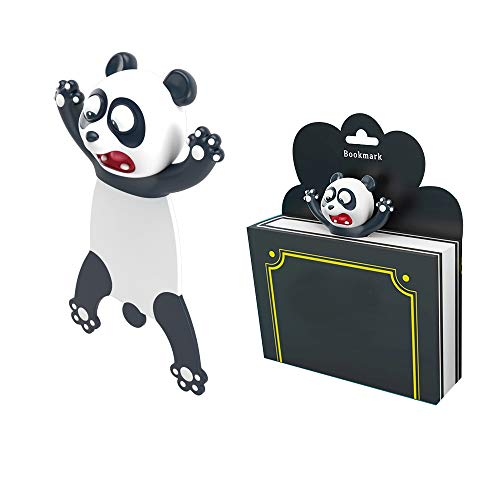 skonhed 3D Cartoon Animals Bookmark with Gift Box,Personalized and Funny Bookmark,Animals Bookmark Stationery for Kids and Students, Reading Presents, Party Favors,Book Lovers (Panda)