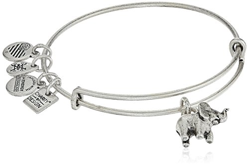 Alex and Ani Elephant II Rafaelian Silver Bangle Bracelet