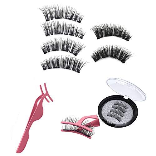 Ruimao 8D Quantum Magnetic Eyelashes, Dual Magnetic Eyelashes, Natural Lash, 0.2mm Ultra Thin Magnet, Light Weight Reusable 3D Eyelashes