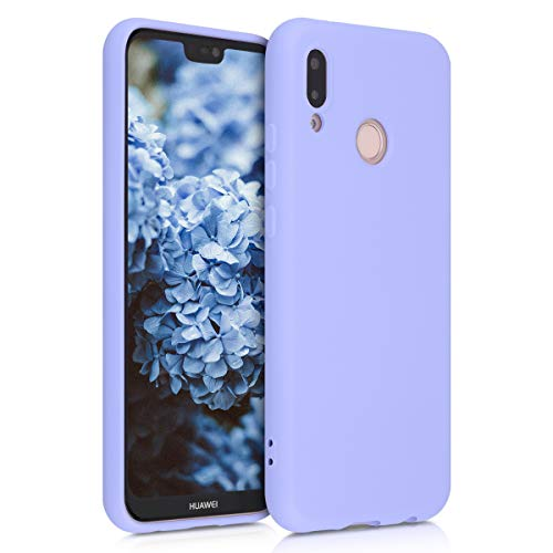 kwmobile Cover Compatibile con Huawei P20 Lite - Custodia in Silicone Effetto Gommato - Cover Back Case Protezione Cellulare - Lavanda Pastello