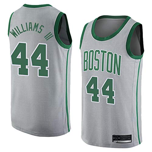 TGSCX Jersey di Pallacanestro da Uomo NBA Boston Celtics 44# Robert Williams Comomodo/Leggero/Traspirante in Rete Ricamata Swingman Swingman Restot-Shirt Felpa,XXL