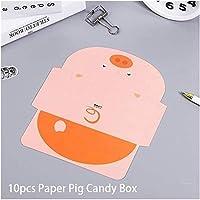 JPSOUP 10個入り:招待状カード10個入りの結婚式の招待カードベビーシャワーの招待状カードハッピーバースデーパーティカードにシェア結婚式洗礼(ラビットカードの色)を取得します (色 : Pig Card)