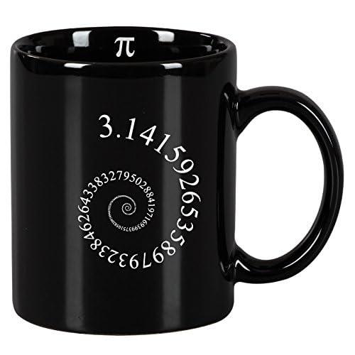Tasse mug Petit-déjeuner de céramique noire 32 cl. Modèle Pi