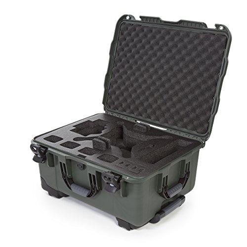 Nanuk DJI Drone - Custodia rigida impermeabile con ruote e inserto in schiuma personalizzata per DJI Phantom 4/Phantom 4 Pro (Pro+), Advanced (Advanced+) e Phantom 3 - 950-DJI46 Olive