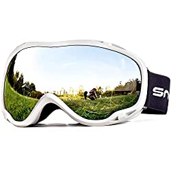 Snowledge ski goggles women and men snowboard goggles double lens OTG UV400 protection anti-fog windproof ski goggles helmet compatible for skiing motorcycle bike skating