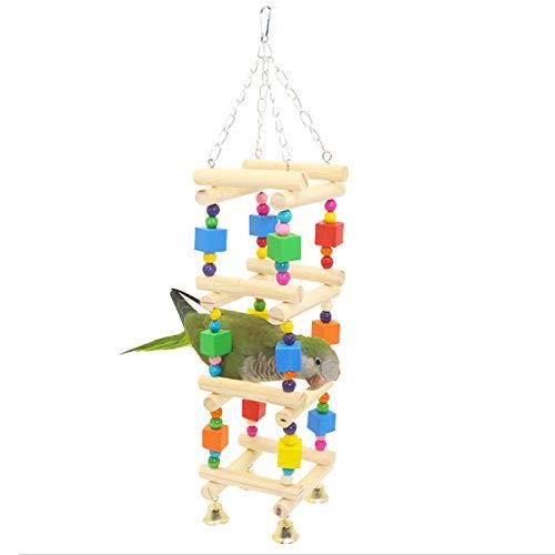 sylbx Juguetes de Loro Pájaro Colorful Columpio para Loros Accesorios,Juguete Colgante para Mascotas con Campanas, Colorful Pájaro Swing Juguete para pequeños y medianos Loros de Aves