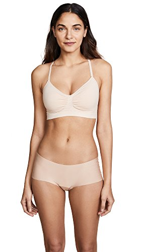 Yummie Women's Emmie Seamless Wirefree T-Back Day Bra, Frappe, M/L