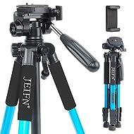 JEIFN Q111 58 Zoll Leichtes kompaktes tragbares Reisekamerastativ für Canon Nikon Sony DSLR-Kamera Video mit Tragetasche (blau)