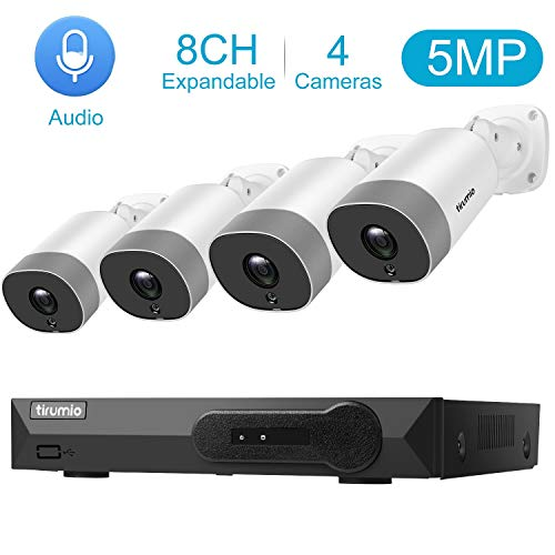 Read About PoE Security Camera System, TIRUMIO 8CH 5MP(2.5x1080P) Wired Home Surveillance PoE NVR Sy...