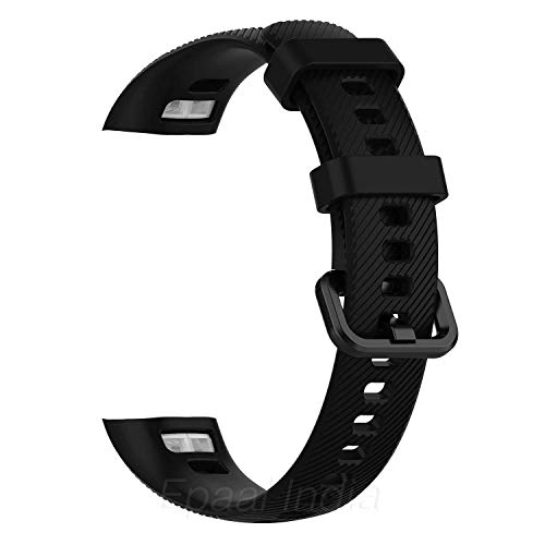 Epaal TPU Silicon Band Strap for Huawei Honor Band 5 / Honor Band 4 (Combo: Black+Blue)