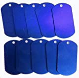 Spoilt Rotten <span class='highlight'>Pets</span> Anodised Aluminium BLUE Blank Pet Identity Tags x 10 Large Army Tags - Job Lot <span class='highlight'>Wholesale</span> Blanks For Engraving & Stamping (Blue)