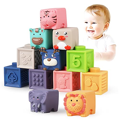 Luclay bloques de construcción blandos para bebés de 6 meses