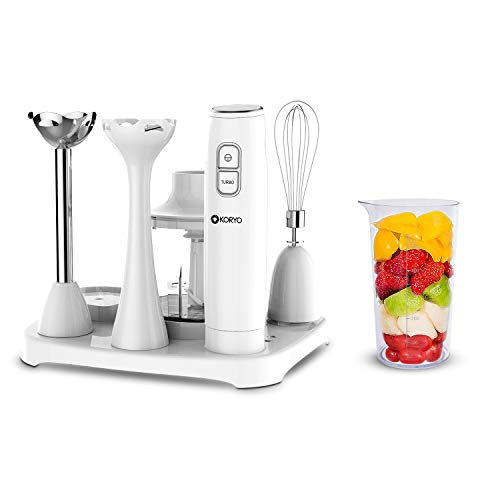 Koryo by Big Bazaar 6 in 1 Multipurpose Hand Blender with 6 attachments (KHB9567) White