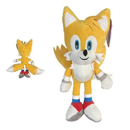 Sonic - Peluche Tails Miles Prower 13 '/ 33cm Colore Giallo qualità Super Soft