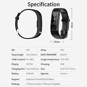 HUOU Pulsera Actividad Inteligente,Impermeable IP68,11 Modos Multi-Deportivos,Reloj Inteligente Deportivo para Mujer y Hombre,compatibilidad con iOS y Android