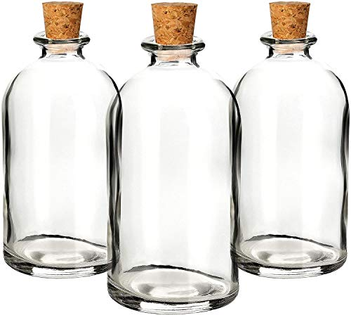 casavetro - Botellas pequeñas de Cristal (30 o 50 Unidades, 100 ml), Color Blanco, tamaño 50 x 100