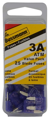 Bussmann (VP/ATM-3-RP) Violet 3 Amp Fast Acting ATM Mini Fuse, (Pack of 25)