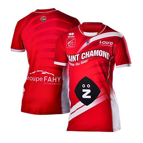 Saint Chamond Basket Saint-Chamond Maillot Officiel Extérieur Saison 2018-2019 Camiseta de Baloncesto, Unisex Adulto, Rojo, FR : XS (Taille Fabricant : 14 ANS-XS)