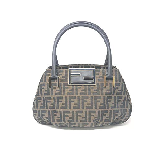 Fendi Zucca Small Mia Brown Tote Women's Bag 8BR674G1