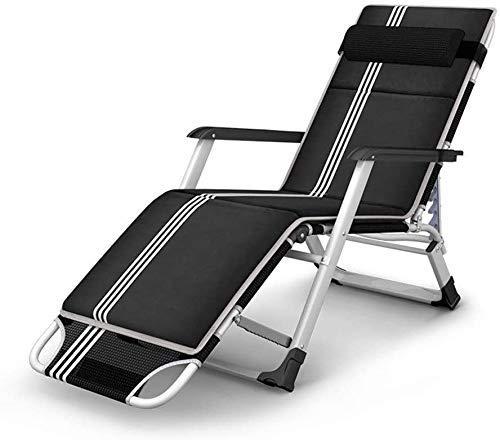 GUOSHUCHE Cama plegable Chaise Zero Gravity portátil, inclinable pliante, chaise pliante Chaise de pause déjeuner pour bureau único