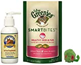 Healthy Cat Bundle of Grizzly Salmon Oil Omega-3 Fatty Acids All-Natural Cat Food Supplement, Feline Greenies Smartbites Salmon for Skin and Fur, and Grassland Pets Micro Mouse! (1 Pack 4 oz.)