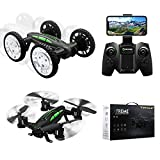 YOOSCA 2.4 Ghz Land and Air Dual Mode Remote Control Car and Drone, Drift High Speed Off Road Rc Racing Car, Altitude Hold Headless 3D Flip High-Altitude Rc Drone,14 Night Navigation Lights. (Camera)