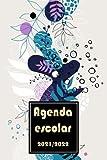 Agenda escolar 2021/2022: A5 agenda escolares +calendario 2021-2022 -flores- semana vista ,Planificadora diaria y...