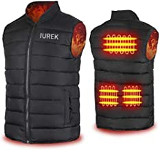 IUREK Electric Heated Vest, Rechargeable Heated Clothing for Men Black