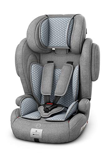 Osann Flux Kindersitz 9-36 kg Isofix (Gruppe 1/2/3) Kinderautositz - bellybutton Steel Grey