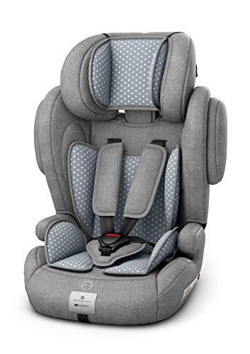 Osann 102-138-401 Kinderautositz Flux Isofix, Gruppe 1/2/3 (9-36 kg), Autositz bellybutton SteelGrey