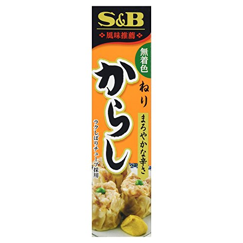 S&B Karashi (Japanese Mustard) Paste in Plastic Tube, 1.51oz
